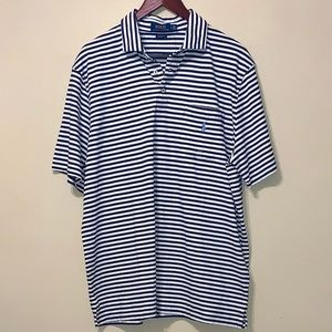 POLO CLASSIC FIT BLUE STRIPED LARGE SHIRT NWT